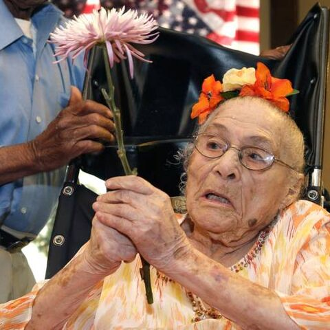 Gertrude Weaver at her 116th birthday
