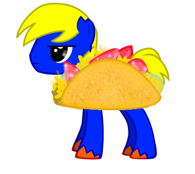 File:Pony joe in a taco suit by g gage-d4s5x3o.png