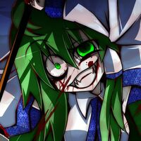 Sanae not quite pulling the hoshi face