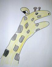 Hand-giraffe