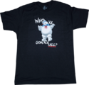 GhostbustersSTAYPUFTMARSHMALLOWMANWHOYAGONNACALLBLACKMALETSHIRTByIkonCollectablesSc01