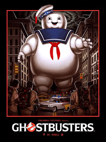 File:Gallery 1988 Art01 Ghostbusters Commemorative Show Poster by Mike Mitchell.jpg