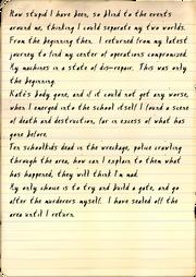 Professor's diary, 6