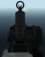 L86 iron sights