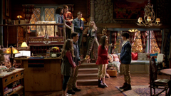 Riley Caught by Lucas and Maya (Mount Sun Lodge - 3x09)