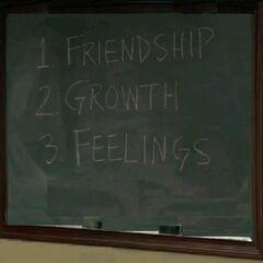1)Friendship 2)Growth 3)Feelings (<a href=