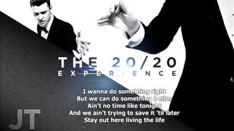 Justin Timberlake Take Back The Night Lyrics On Screen