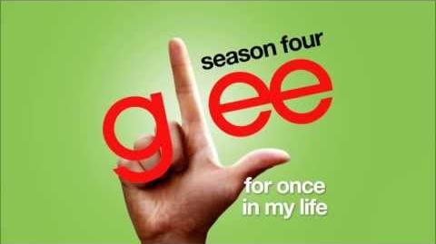 For Once In My Life - Glee Cast HD FULL STUDIO