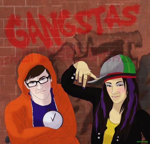 File:Glee Gangstas yo by chibiCharlie chan.png