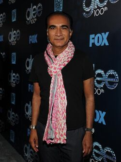 Iqbal on the red carpet for Glee's 100th episode celebration