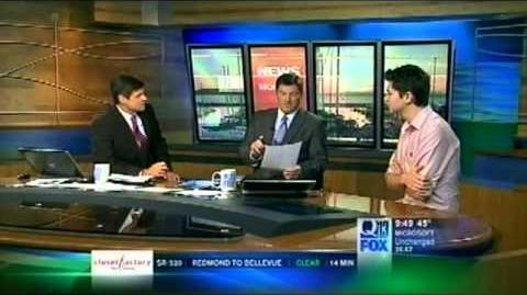 Damian Mc Ginty interview on Seattle's Q13 Fox, December 6, 2012