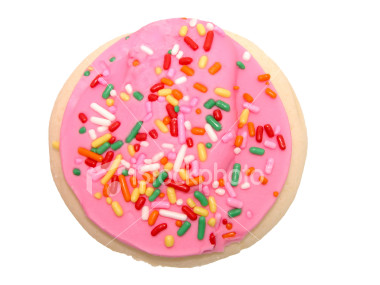 File:Istockphoto 312002 cookie with pink icing and sprinkles.jpg