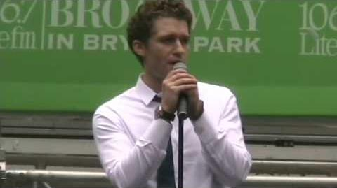 "Matthew Morrison ""Leaving on a Jet Plane"" 8 13 09"