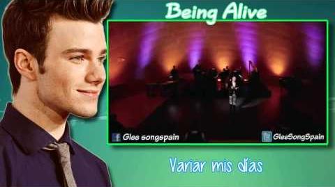 Glee - Being Alive Traducida Video