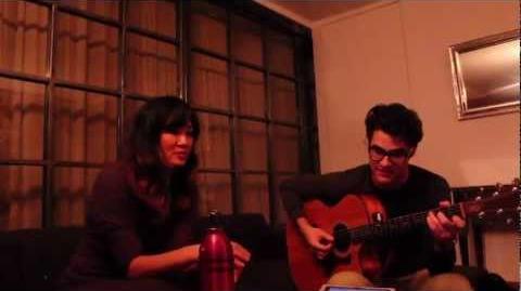 Darren Criss and Charlene Kaye - White Christmas (acoustic rehearsal)