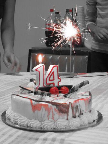 File:14th-birthday-cake.jpg