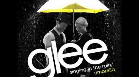 Glee Singing In The Rain Umbrella Acapella