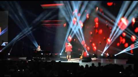 Darren Criss, Naya Rivera and Amber Riley Kids Inaugural Concert 2013