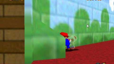 SM64 Mario Sliding On Toad's Afro