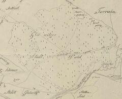 Karte Gleiwitzer Stadtwald 1812