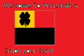 Minecraftia Welcome Sign
