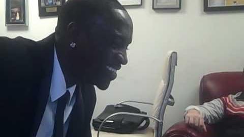 Akon watching a GoAnimate animation