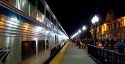 Amtrak-Train-in-Station-at-Night