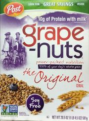 Grape Nuts box