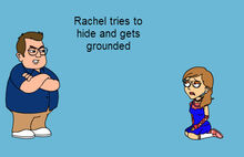 Rachel Tries to Hide title card