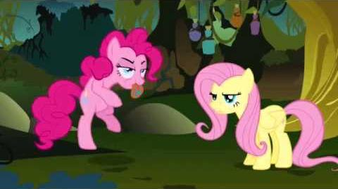 Fluttershy singing Pinkie Pie's song