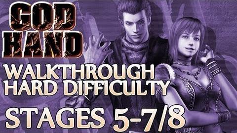 ★ God Hand Walkthrough ▪ Hard Mode - Stage 5-7 5-8 ▪ Ravel & Debussey Boss Fight