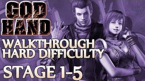 ★ God Hand Walkthrough ▪ Hard Mode - Stage 1-5