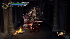 Kratos vs minotaur hammer grunt 9 -GoW