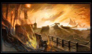 Persian fleet attack