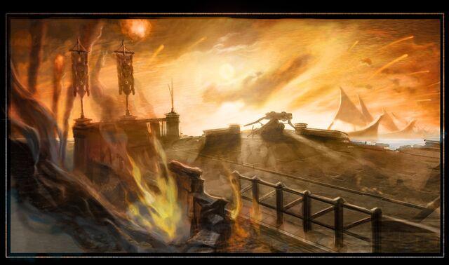 File:Persian fleet attack.jpg