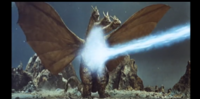 Ghidorah is unfazed by Godzilla's atomic breath!