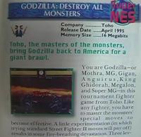 Godzilla - Destroy All Monsters