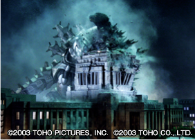 File:Kiryu Tackles Godzilla Into the Diet Building.png