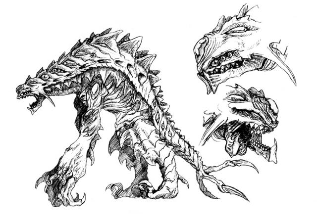 File:Concept Art - Godzilla 2000 Millennium - Orga 106.png