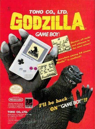 Godzilla GameBoy Ad