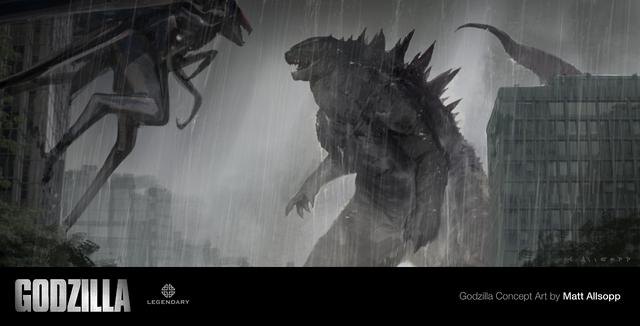 File:Concept art - Godzilla 2014 - Godzilla vs. MUTO 1.png