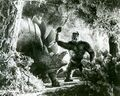 King Kong 1933 Kong vs. Stegosaurus Production Still