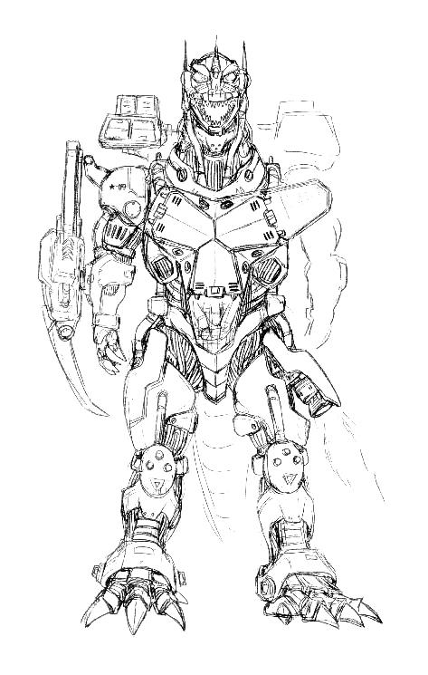 Image Concept Art Godzilla