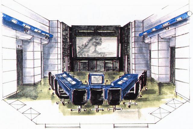 File:Concept Art - Godzilla vs. MechaGodzilla 2 - G-Force Command Center 2.png