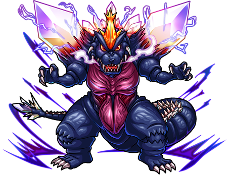 File:Godzilla X Monster Strike - Combat Form SpaceGodzilla.png