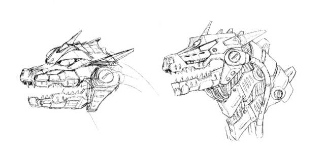 File:Concept Art - Godzilla Against MechaGodzilla - Kiryu Head 4.png