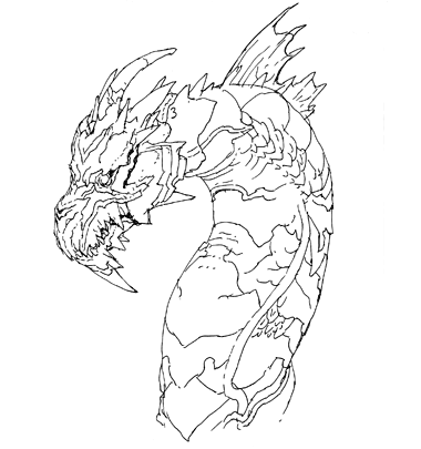 File:Concept Art - Godzilla Final Wars - Keizer Ghidorah Head Left.png