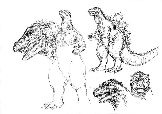 File:Concept Art - Godzilla 2000 Millennium - Godzilla 20.png