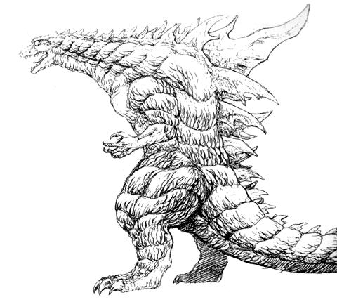 File:Concept Art - Godzilla 2000 Millennium - Godzilla 4.png