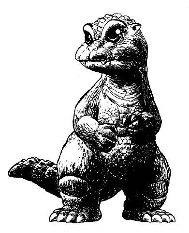 File:Concept Art - Godzilla vs. SpaceGodzilla - Little Godzilla 2.png